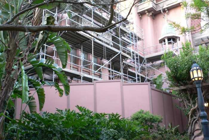 Tower of Terror exterior facade refurbishment