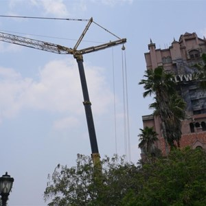 2 of 2: The Twilight Zone Tower of Terror - Crane onsite at Tower of Terror