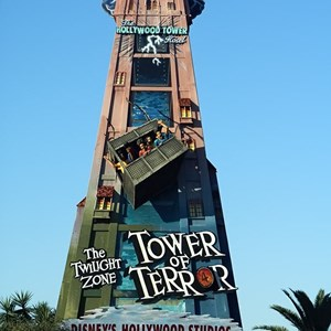 1 of 1: The Twilight Zone Tower of Terror - Tower of Terror promotional sign gets new logo
