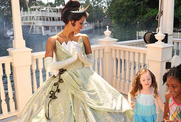 Princess Tiana at the Magic Kingdom