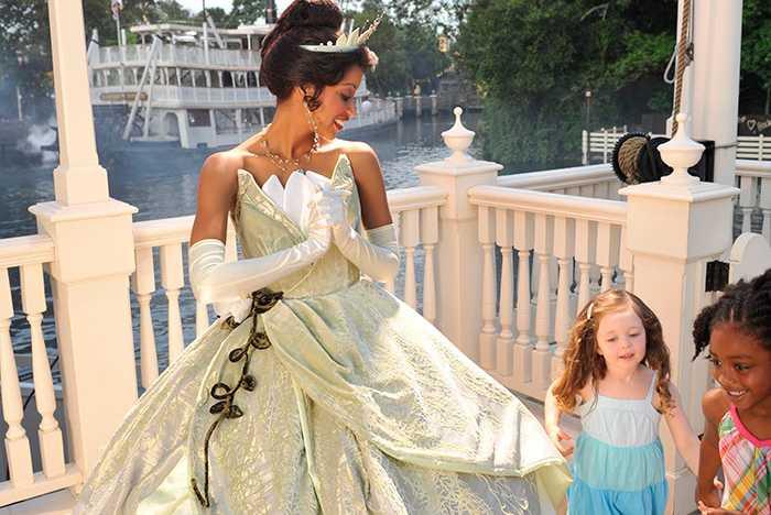Princess Tiana at the Magic Kingdom