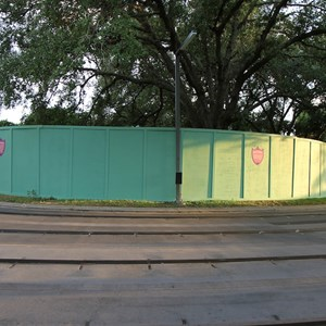 1 of 2: Tomorrowland Indy Speedway - Construction walls