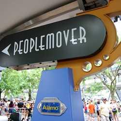 Tomorrowland Transit Authority PeopleMover signage