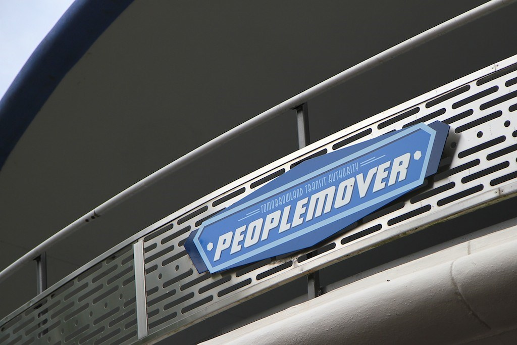 Tomorrowland Transit Authority PeopleMover signage