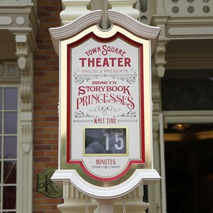 2 of 41: Town Square Theater - The Princess wait time clock