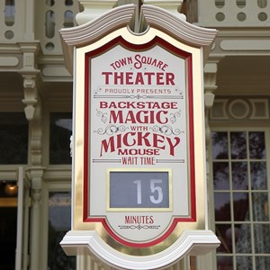 3 of 41: Town Square Theater - Backstage Magic with Mickey Mouse wait time clock