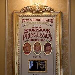 5 of 41: Town Square Theater - The Princesses currently appearing are indicated on the signage