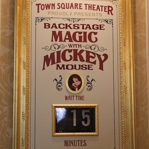 6 of 41: Town Square Theater - Town Square Theater interior and Mickey Mouse meet and greet