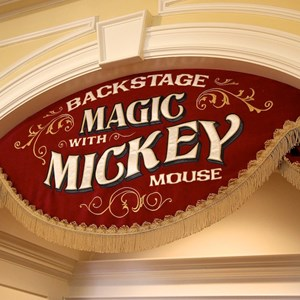 7 of 41: Town Square Theater - Town Square Theater interior and Mickey Mouse meet and greet