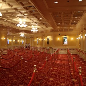 8 of 41: Town Square Theater - The huge indoor queue area