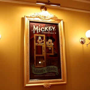 9 of 41: Town Square Theater - Mickey Mouse magic posters in the queue