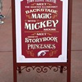 Town Square Theater - Street signage letting guests know where to go to meet the master illusionist