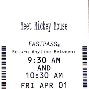 3 of 3: Town Square Theater - A look at one of the Town Square Theater FASTPASS tickets