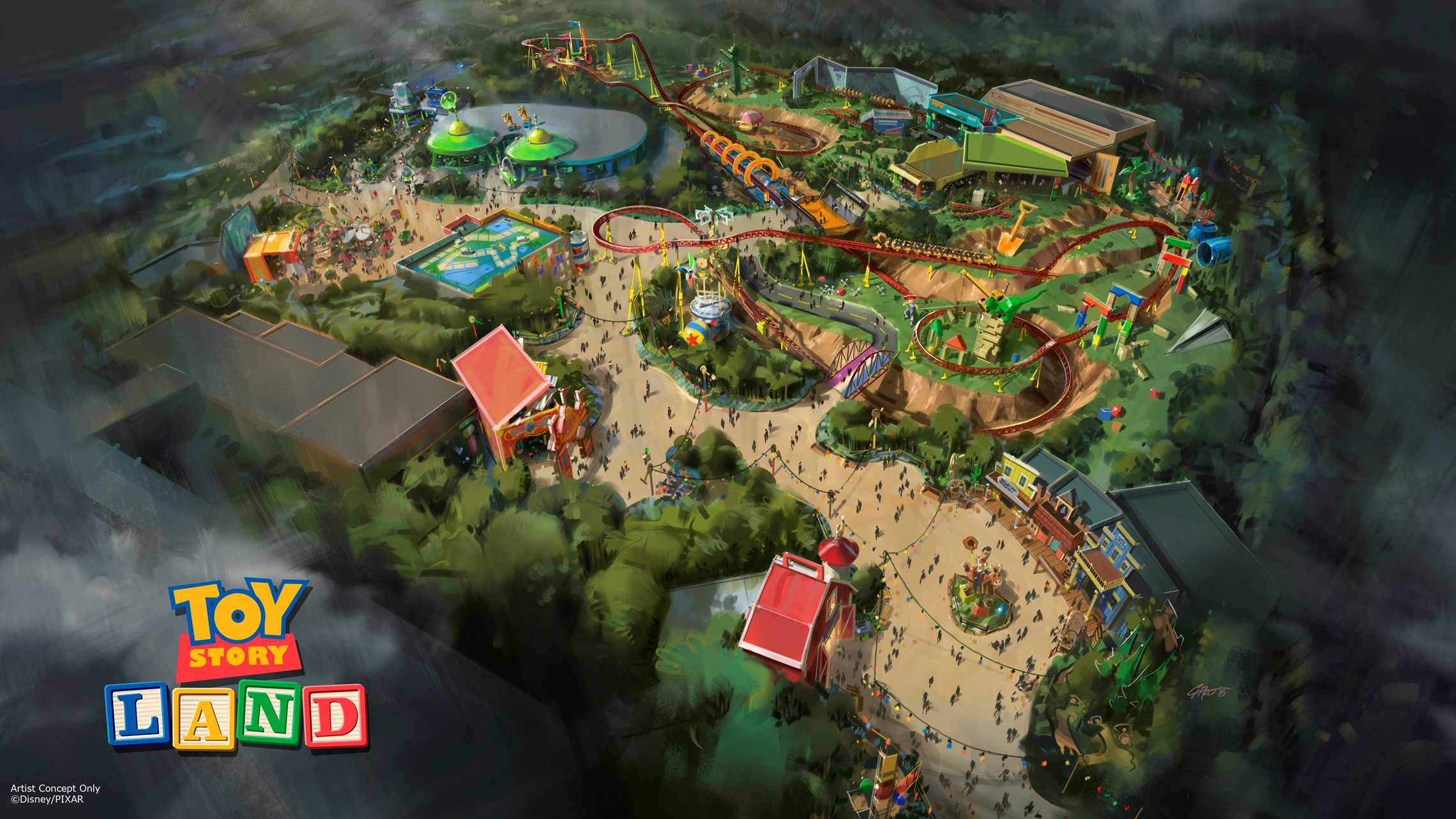 Toy Story Land concept art August 2015