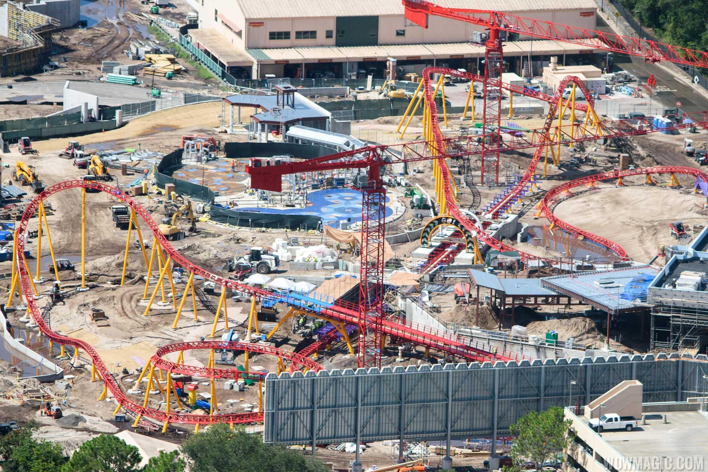 Slinky Dog Coaster construction at Toy Story Land