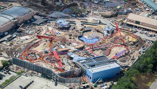 PHOTOS - Slinky Dog Coaster track completed at Toy Story Land