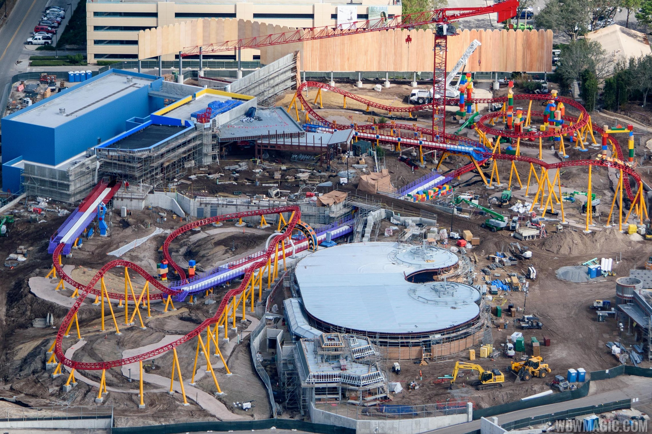 PHOTOS - Toy Story Land construction from the air