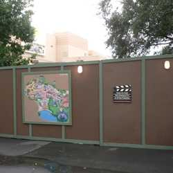 Mickey Avenue now closed and walled off