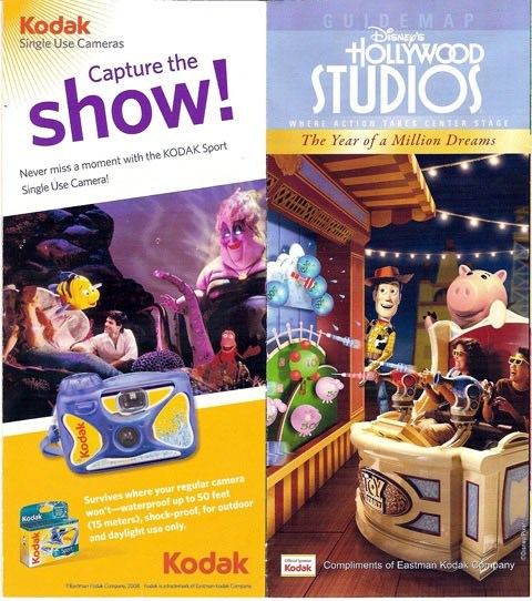 New Studios map showing Toy Story Midway Mania