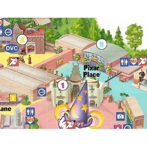 2 of 3: Toy Story Mania - New Studios map showing Toy Story Midway Mania