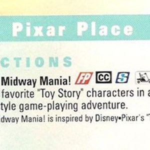 3 of 3: Toy Story Mania - New Studios map showing Toy Story Midway Mania
