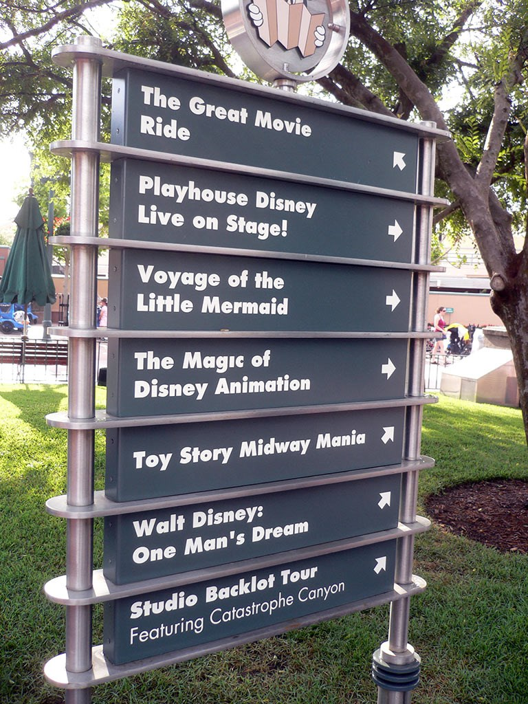 Toy Story Midway Mania! added to park directional signs