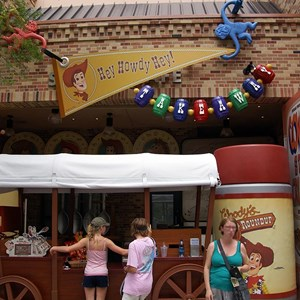 6 of 12: Toy Story Mania - Pixar Place now completely wall-less, and Toy Story Meet and Greet moves in