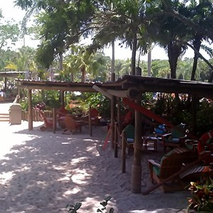 1 of 5: Typhoon Lagoon - Beachcomber Shacks private areas