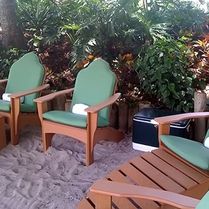 3 of 5: Typhoon Lagoon - Beachcomber Shacks private areas