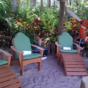 4 of 5: Typhoon Lagoon - Beachcomber Shacks private areas