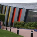 Universe of Energy (Pavilion) - The left side with the rainbow removed and restored to the original red to orange color scheme.