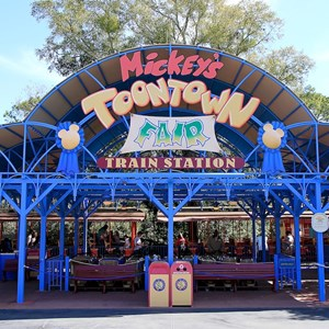 2 of 3: Walt Disney World Railroad - Mickey's Toontown Fair station
