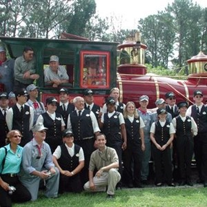 1 of 1: Walt Disney World Railroad - Roy E Disney rededicates fathers train