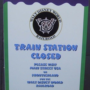 2 of 3: Walt Disney World Railroad - Toontown Train Station refrubishment