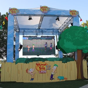 2 of 7: West Side - 'Phineas and Ferb and YOU A Brand New Reality' opening day