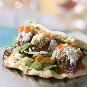 4 of 10: West Side - Downtown Disney Food Truck - Lamb Meatball Flatbread