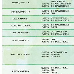 1 of 4: West Side - Mighty St. Patrick's Festival times guide