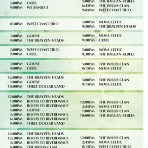 2 of 4: West Side - Mighty St. Patrick's Festival times guide