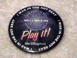 1 of 2: Who Wants To Be A Millionaire-Play It! - Millionaire Hot Seat pin and FASTPASS