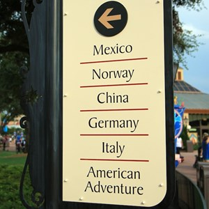 2 of 6: World Showcase - New directional signage in World Showcase