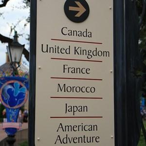4 of 6: World Showcase - New directional signage in World Showcase