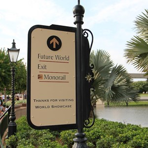 5 of 6: World Showcase - New directional signage in World Showcase