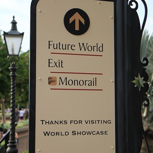 6 of 6: World Showcase - New directional signage in World Showcase