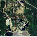 AVATAR land at Disney&#39;s Animal Kingdom - Satellite view of Animal Kingdom, with the north expansion pad and the western expansion pad boxed in red