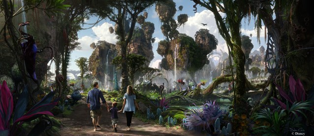 AVATAR land at Disney's Animal Kingdom - AVATAR land concept art
