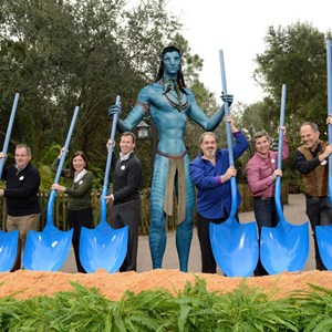 1 of 2: AVATAR land at Disney's Animal Kingdom - Ground breaking ceremony at the AVATAR construction site