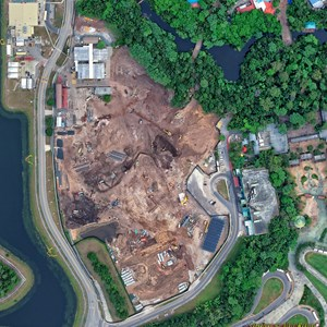 1 of 2: AVATAR land at Disney's Animal Kingdom - AVATAR land aerial views - May 2014