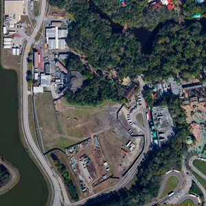 2 of 2: AVATAR land at Disney's Animal Kingdom - AVATAR land aerial views - April 2014