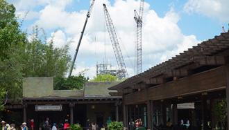 PHOTOS - AVATAR construction now visible from inside Disney's Animal Kingdom