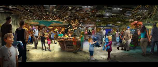 Pandora - The World of Avatar shops and restaurant concept art